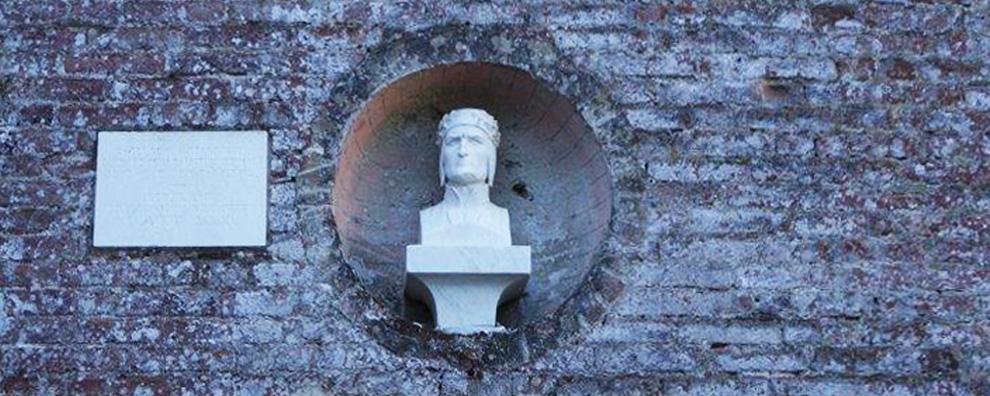 Busto di Dante, Monastero Santa Croce