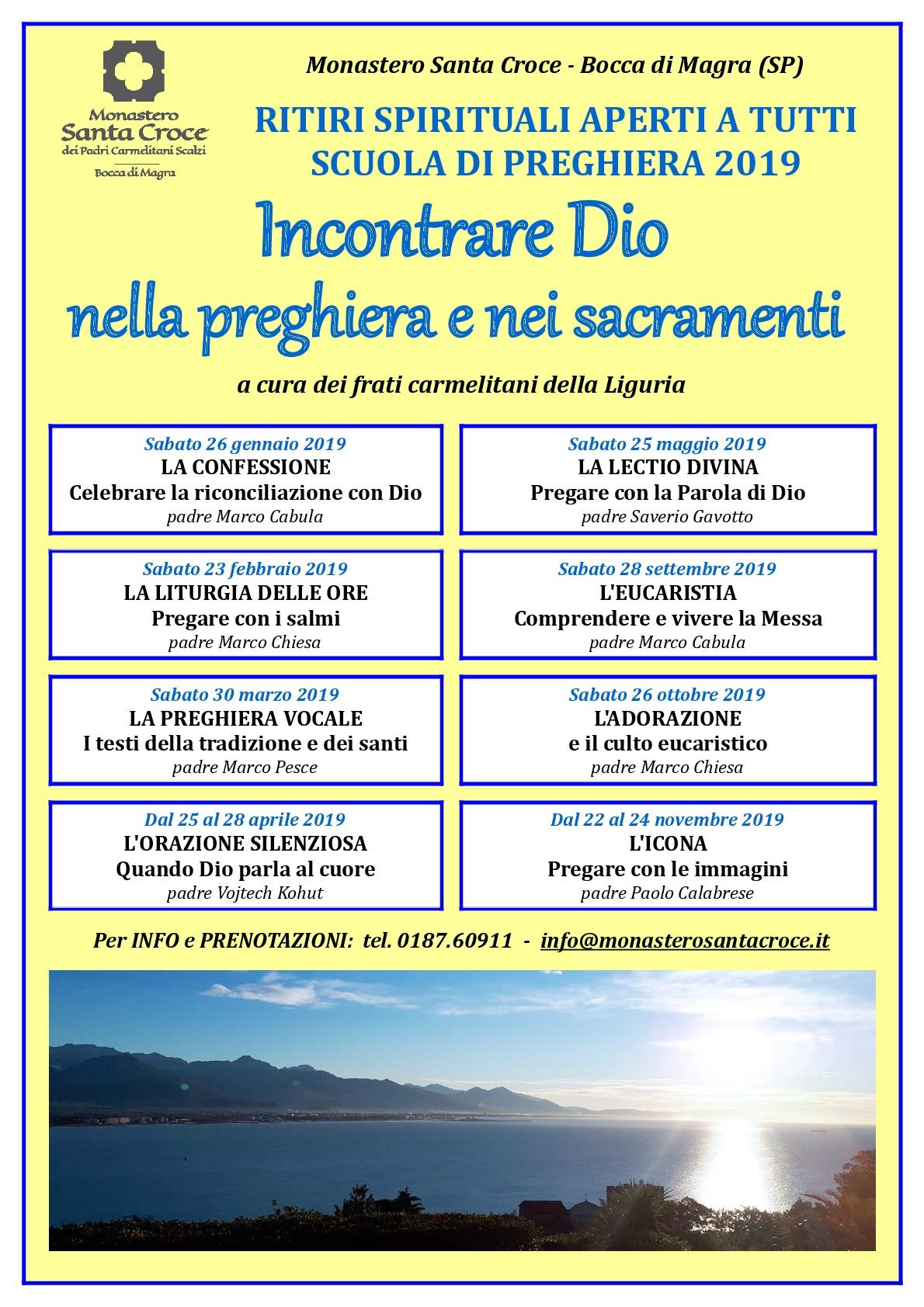 Parole Di Vita Calendario 2019.Calendario Monastero Santa Croce